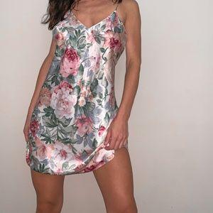 vintage silky slip dress